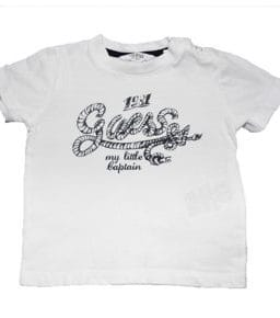 GUESS T-Shirt White Anchor
