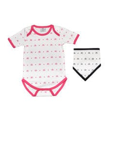 KIAMONDS SET - Body Ks Pink + Dreieckstuch Ks Black