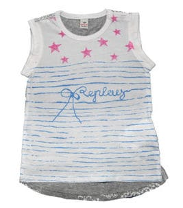 REPLAY T-Shirt Pink Stars