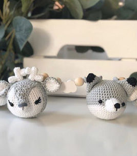 "ELA Kinderwagenkette Fox & Co. ""black & white"""
